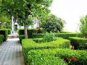 Jardines del Colegio Alquería-Zagal en Granada