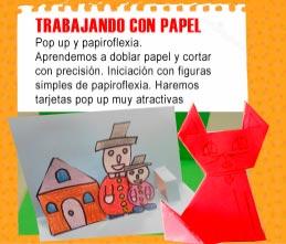 Taller papel infantil Granada