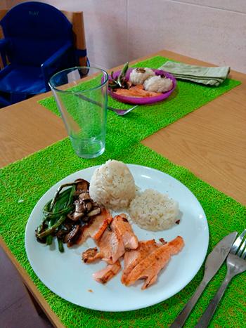Comida de Olaya y Yago